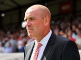 Mark Warburton Manager Of Brentford during the Sky Bet Championship match between Brentford and Charlton Athletic at Griffin Park on August 9, 2014
