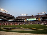 A general view from the end zone during the first half of an NFL pre-season game between the Baltimore Ravens and San Francisco 49ers at M&T Bank Stadium on August 7, 2014