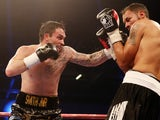 Paul Smith in action with Jamie Ambler at ExCel on December 14, 2013