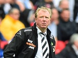 Derby County's English manager Steve McClaren stands on the sideline during the English Championship Play Off final football match between Derby County and Queens Park Rangers at Wembley Stadium in London on May 24, 2014