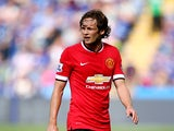 Daley Blind of Manchester United during the Barclays Premier League match between Leicester City and Manchester United at The King Power Stadium on September 21, 2014