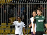 Everton's Cameroonian forward Samuel Eto'o celebrates after scoring a goal during the UEFA Europe League group H football match between Krasnodar and Everton in Krasnodar on October 2, 2014