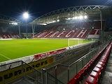 General view of Stadion Galgenwaard taken during the Eredivisie match between FC Utrecht and Roda JC held on October 23, 2009