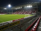 General view of Stadion Galgenwaard taken during the Eredivisie match between FC Utrecht and Roda JC held on October 23, 2009