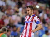 Gabi Fernandez of Club Atletico de Madrid in action during the Supercopa, second leg match between Club Atletico de Madrid and Real Madrid at Vicente Caldron stadium on August 22, 2014