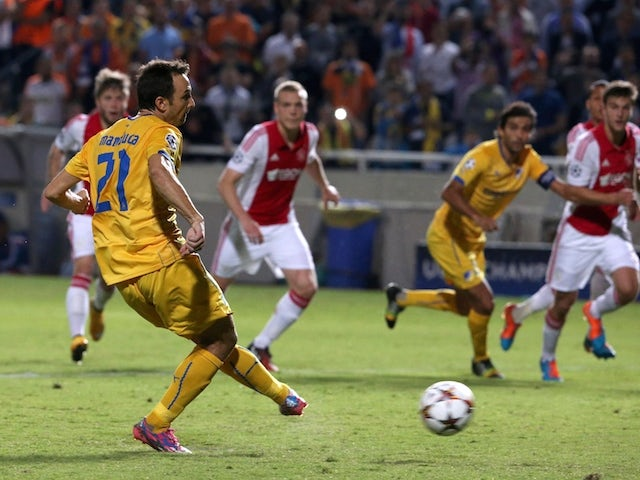Result: APOEL hold Ajax to 1-1 draw