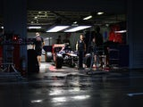 A general view of the Scuderia Toro Rosso garage ahead of the Japanese Formula One Grand Prix at Suzuka Circuit on October 2, 2014