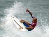 US pro surfer Kelly Slater competes during the ASP world tour Billabong Rio Pro 2013 at Barra de Tijuca beach in Rio de Janeiro, Brazil on May 18 , 2013