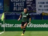 FC Krasnodar's Ari celebrates after scoring a goal during UEFA Europe League group H football match between FC Krasnodar and FC Everton in Krasnodar on October 2, 2014
