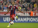 Bayern Munich's French defender Mehdi Benatia plays the ball during the UEFA Champions League Group E football match between FC Bayern Munich vs Manchester City at the Allianz Arena in Munich, southern Germany, on September 17, 2014