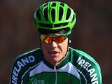 Nicolas Roche of Ireland in action during training for the UCI World Road Race Championships on September 25, 2014