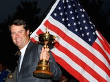 USA team captain Paul Azinger celebrates with the Ryder Cup after his team's 16.5-11.5 victory on the final day of the 2008 Ryder Cup at Valhalla Golf Club on September 21, 2008