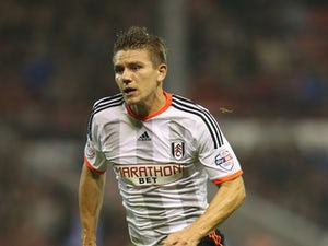Shaun Hutchinson of Fulham looks on during the Sky Bet Championship match between Nottingham Forest and Fulham at the City Ground on September 17, 2014