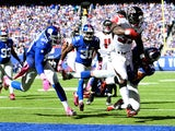 Running back Steven Jackson #39 of the Atlanta Falcons scores a ten yard touchdown in the first quarter against the New York Giants on October 5, 2014