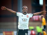 Nathan Byrne of Swindon celebrates after scoring the team's second goal of the game during the Sky Bet League One match between Leyton Orient and Swindon Town at The Matchroom Stadium on October 04, 2014