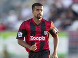 Adil Nabi of West Bromwich Albion in action during the pre season friendly match between Puskas FC Academy and West Bromwich Albion at the Varosi Stadium on July 22, 2013