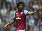 Carlos Sanchez of Aston Villa during the Barclays Premier League match between Aston Villa and Arsenal at Villa Park on September 20, 2014
