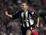 Marlon Broomes of Grimsby celebrates after scoring their first goal during the Liverpool v Grimsby Town Worthington Cup Third Round match at Anfield on 9 October, 2001