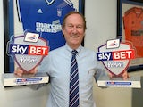 Ipswich Town Managing Director Ian Milne picks up the Manager & Player of the Month awards on behalf of Mick McCarthy and Tyrone Mings on October 9, 2014