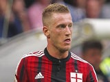 Ignazio Abate of AC Milan in action during the Serie A match between AC Milan and SS Lazio at Stadio Giuseppe Meazza on August 31, 2014