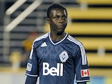 Kekuta Manneh #23 of the Vancouver Whitecaps FC looks on before their game against the Charleston Battery at Blackbaud Stadium on February 16, 2013