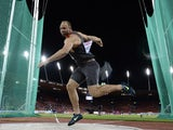 Germany's Robert Harting competes during the Men's discus throw final during the European Athletics Championships at the Letzigrund stadium in Zurich on August 13, 2014