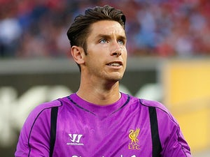 Brad Jones #1 of Liverpool in action against Manchester City during the International Champions Cup 2014 at Yankee Stadium on July 30, 2014