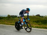 Chris Sutton of Australia and Team SKY in action during the twelfth stage of the 2014 Giro d'Italia, a 42km Individual Time Trial stage between Barbarasco and Barolo on May 22, 2014