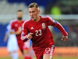 Wales player George Williams in action during the EURO 2016 Qualifier match between Wales and Cyprus at Cardiff City Stadium on October 13, 2014