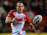 Lance Hohaia of St Helens in action during the First Utility Super League Qualifying Semi-Final match between St Helens and Catalan Dragons on October 2, 2014