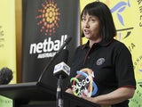 Lisa Alexander speaks during the official launch of the Australian Commonwealth Games Netball Team at Parliament House on May 7, 2014