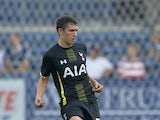 Milos Veljkovic #51 of Tottenham Hotspur kicks the ball during the first half against the Chicago Fire at Toyota Park on July 26, 2014