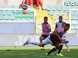Paulo Dybala of Palermo scores the opening goal during the Serie A match between US Citta di Palermo and AC Cesena at Stadio Renzo Barbera on October 19, 2014