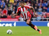 Patrick Van Aanholt of Sunderland during the Premier League football match between Sundeland and Stoke City at Stadium of Light on October 4, 2014