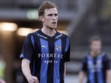 Pontus Segerstroem of Stabaek IF during the Norwegian Tippeligaen match between Stabaek IF and FK Bodo/Glimt held at the Telenor Arena on October 25, 2009