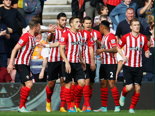 Result: Southampton put eight past Sunderland