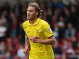 George Taft of Burton Albion in action during the Sky Bet League Two match between Northampton Town and Burton Albion at Sixfields Stadium on October 11, 2014