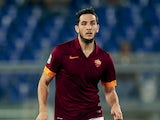 Kostas Monolas of AS Roma in action during the Serie A match between AS Roma and Hellas Verona FC at Stadio Olimpico on September 27, 2014