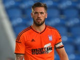 Luke Chambers of Ipswich during the Pre Season Friendly match between Colchester United and Ipswich Town at The Weston Homes Community Stadium on July 23, 2014