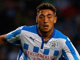 Matt Crooks of Huddersfield in action during the Pre Season Friendly match between Huddersfield Town and Newcastle United at the John Smith's Stadium on August 5, 2014
