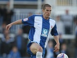 Paul Murray of Hartlepool United in action during the Johnstone's Paint Trophy first round match between Hartlepool United and Northampton Town at Victoria Park on August 31, 2010