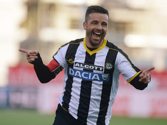 Team News: Antonio Di Natale back for Udinese