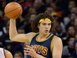 Anderson Varejao #17 of the Cleveland Cavaliers controls the ball in the first half against the New York Knicks at Quicken Loans Arena on October 30, 2014