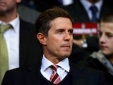 Liverpool Chief Executive Christian Purslow looks on prior to the Barclays Premier League match between Liverpool and West Ham United at Anfield on April 19, 2010