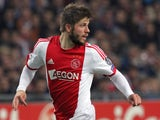 Lasse Schone of AFC Ajax in action during the UEFA Champion League group stage match between AFC Ajax and Celtic FC held on November 6, 2013