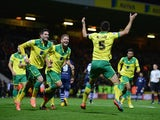 Russell Martin of Norwich City Celebrates his goal during the Sky Bet Championship match between Norwich City and Leeds United at Carrow Road on October 21, 2014