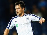 Sebastian Blanco of West Bromwich Albion in action during the Capital One Cup Third Round match against Hull City on September 24, 2014