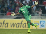 Senzo Meyiwa of Pirates celebrates the second goal during the MTN 8 quarter final match between Orlando Pirates and SuperSport United at Orlando Stadium on August 02, 2014