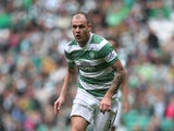 Anthony Stokes of Celtic controls the ball during the Scottish Premiership League Match between Celtic and Dundee United, at Celtic Park on August 16, 2014