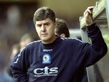 Blackburn Rovers manager Brian Kidd during the Nationwide Division One match against Manchester City at Maine Road on October 23, 1999